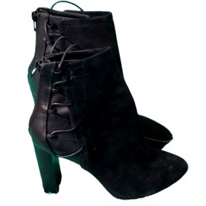 Aldo High Ankle Suede Lace Booties